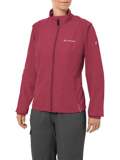 VAUDE Dundee Classic Zip-Off Jacket Women red cluster